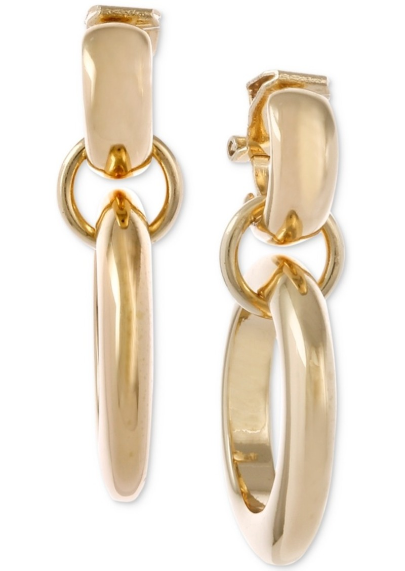 Laundry by Shelli Segal Gold-Tone Double-Hoop Drop Earrings
