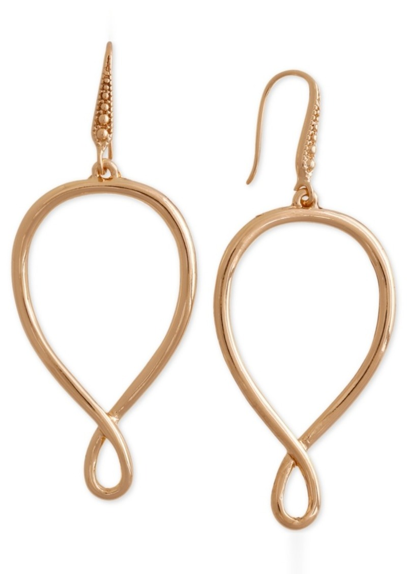 Laundry by Shelli Segal Gold-Tone Infinity Drop Earrings