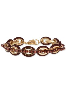 Laundry by Shelli Segal Gold-Tone Pave & Enamel Chain Link Bracelet