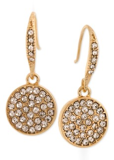 Laundry by Shelli Segal Gold-Tone Pave Disc Drop Earrings