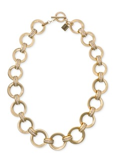 "Laundry by Shelli Segal Gold-Tone Pave Link 20"" Collar Necklace"