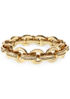 Laundry by Shelli Segal Gold-Tone Pave Link Stretch Bracelet