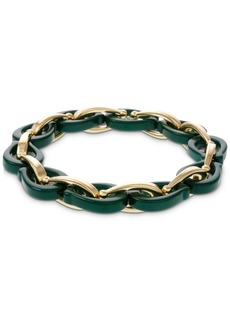 Laundry by Shelli Segal Gold-Tone Resin & Chain Link Stretch Bracelet