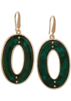 Laundry by Shelli Segal Gold-Tone Resin Oval Drop Earrings