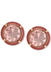 Laundry by Shelli Segal Gold-Tone Stone Clip-On Button Earrings