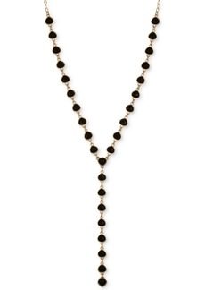"""Laundry by Shelli Segal Gold-Tone Stone Lariat Necklace, 30"""" + 2"""" extender"""