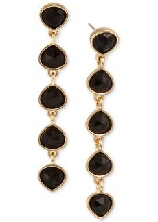Laundry by Shelli Segal Gold-Tone Stone Linear Drop Earrings