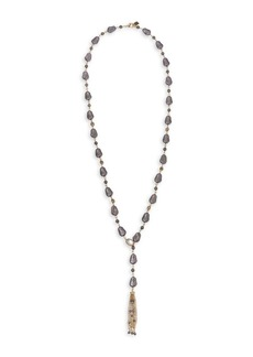 Laundry by Shelli Segal Goldtone & Faux Pearl Lariat Necklace