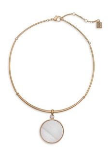 Laundry by Shelli Segal Goldtone Collar Shell Inlay Pendant Necklace