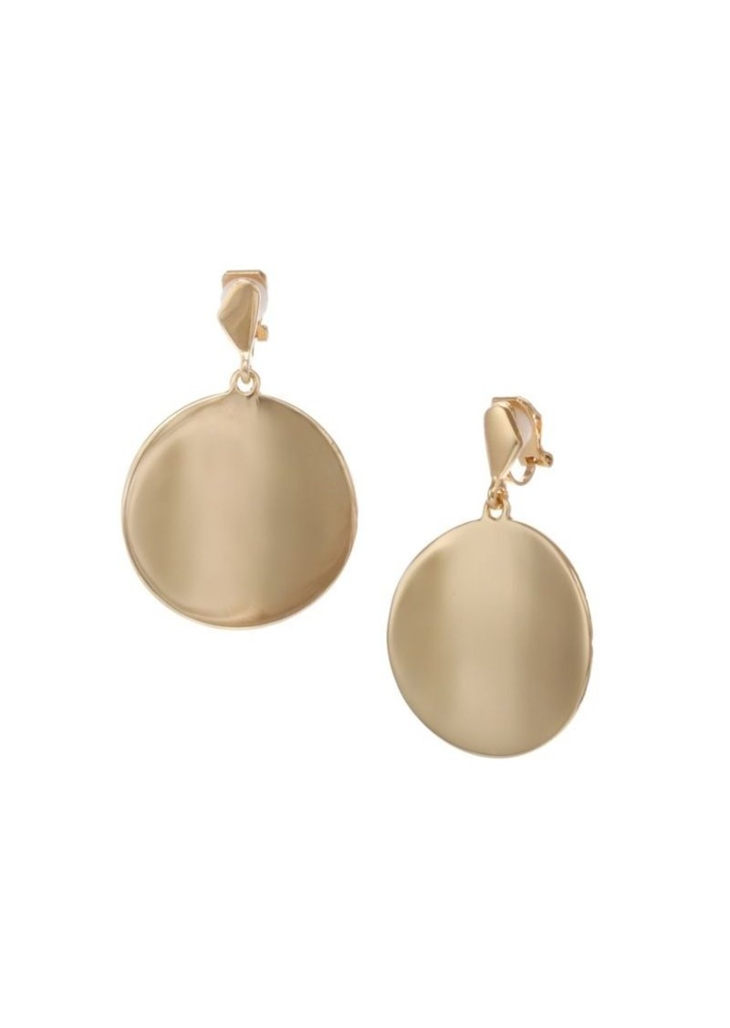 Laundry by Shelli Segal Goldtone Polished Disc Clip Earrings