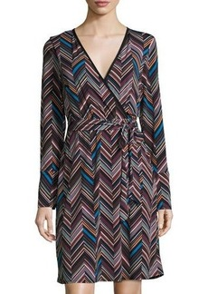 Laundry By Shelli Segal Graphic-Print Faux-Wrap Dress