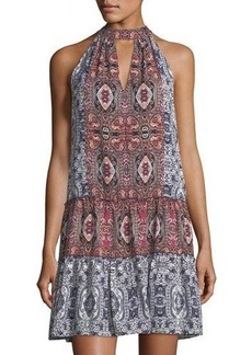 Laundry By Shelli Segal Graphic-Print Mock-Neck Dress