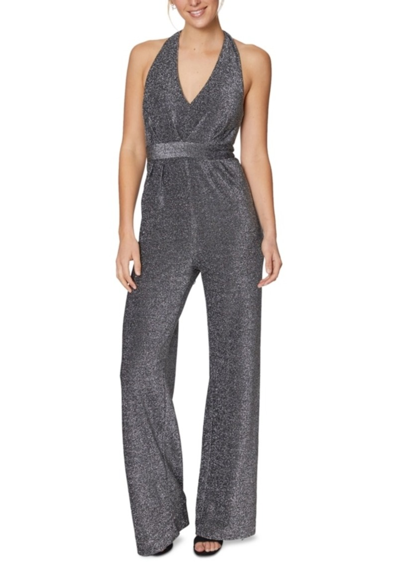 Laundry by Shelli Segal Halter Shimmer-Knit Jumpsuit