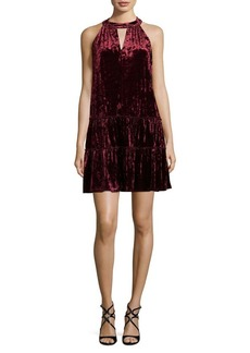 Laundry by Shelli Segal Velvet Halterneck Dress