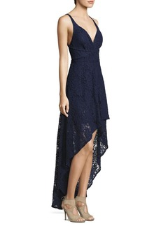 Laundry by Shelli Segal Hi-Lo Lace Gown