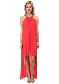 Laundry by Shelli Segal Hi Multi Chiffon Sleeveless Hi-Low Dress