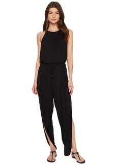 Laundry by Shelli Segal High Neck Drape Jumpsuit Cover-Up