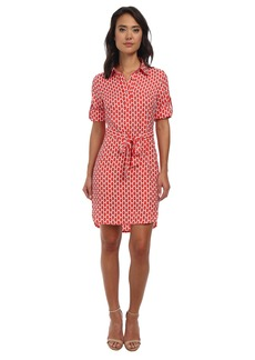 Laundry by Shelli Segal Honey Bee Peached Twill Shirtdress