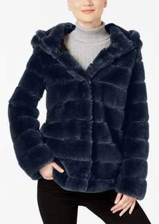 Laundry by Shelli Segal Hooded Faux-Fur Coat