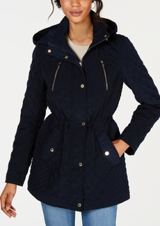 Laundry by Shelli Segal Hooded Quilted Coat