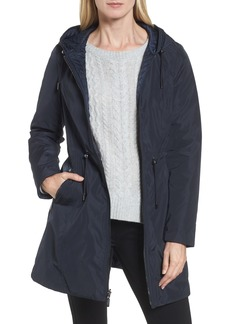 Laundry by Shelli Segal Hooded Reversible Windbreaker Jacket (Regular & Petite)