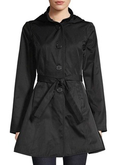 Laundry by Shelli Segal Hooded Trench Coat