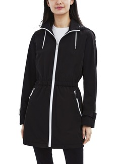 Laundry by Shelli Segal Hooded Water-Resistant Anorak Raincoat