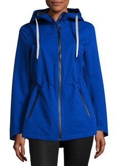 Laundry By Shelli Segal Hooded Zip-Front Performance Jacket