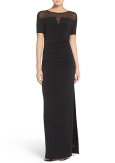 Laundry by Shelli Segal Illusion Gown