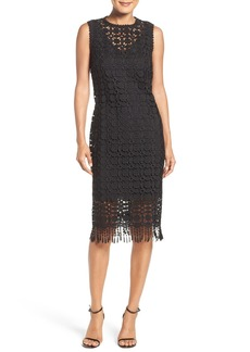 Laundry by Shelli Segal Illusion Lace Midi Dress