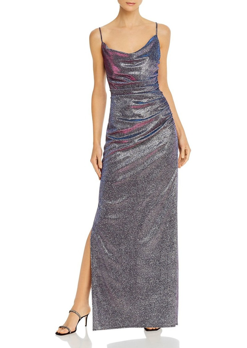 Laundry by Shelli Segal Iridescent Draped Gown - 100% Exclusive