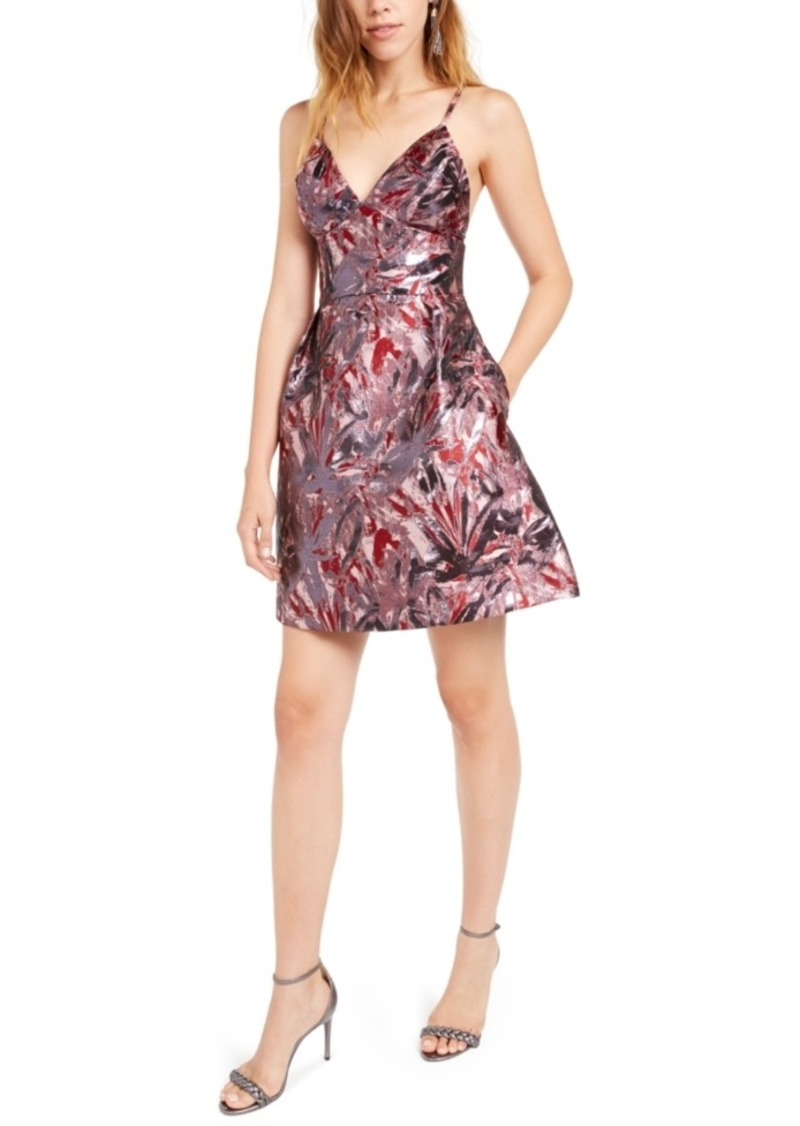 Laundry by Shelli Segal Jacquard Fit & Flare Dress