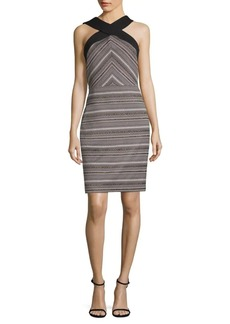 Laundry by Shelli Segal Jacquard Geometric Sheath Dress