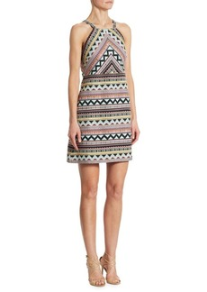 Laundry by Shelli Segal Jacquard Halter Dress