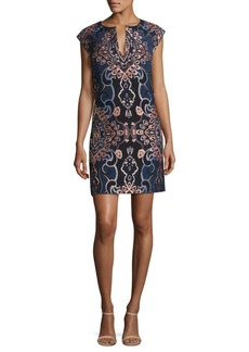 Laundry by Shelli Segal Jacquard Shift Dress
