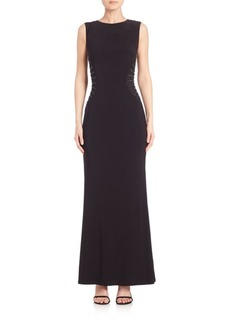 Laundry by Shelli Segal Jersey Embellished-Detail Gown