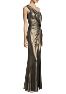 Laundry by Shelli Segal Knotted One Shoulder Gown
