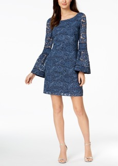 Laundry by Shelli Segal Lace Bell-Sleeve Shift Dress