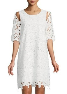 Laundry By Shelli Segal Lace Cold-Shoulder Shift Dress