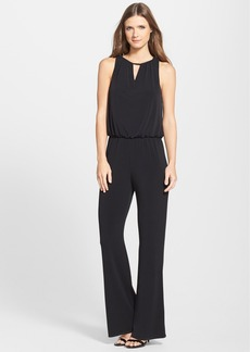 Laundry by Shelli Segal Lace Cowl Back Blouson Jumpsuit