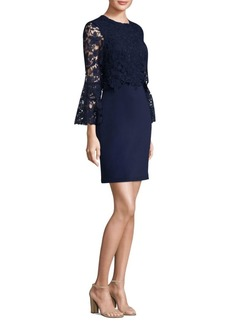 Laundry by Shelli Segal Lace Crepe Sheath Dress