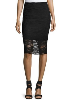 Laundry By Shelli Segal Lace Illusion Pencil Skirt