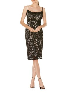 Laundry by Shelli Segal Lace Midi Cocktail Dress