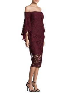 Laundry by Shelli Segal Lace Off-The-Shoulder Dress