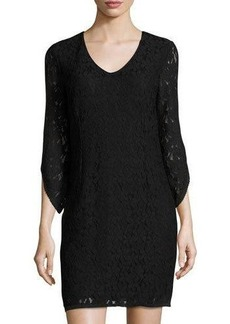 Laundry by Shelli Segal Lace-Overlay Sheath Dress