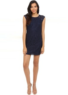 Lace Shift Dress with Side Zippers