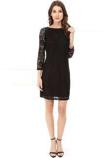 Laundry by Shelli Segal Lace T-Body 3/4 Sleeve Dress