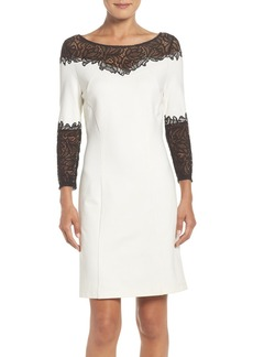 Laundry by Shelli Segal Lace Trim A-Line Dress
