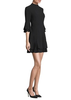 Laundry by Shelli Segal Layered Bell Sleeve A-Line Dress