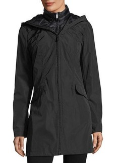 Laundry By Shelli Segal Layered Wind-Resistant Jacket W/ Corset Back